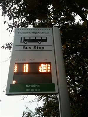 Bus Stop Display Photo