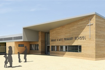2016 - image of the entrance to the proposed new Theale Primary School
