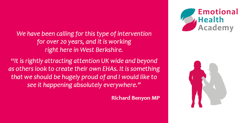 Emotional Health Academy - quote from Richard Benyon, MP