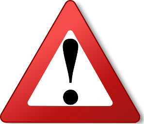 Red Warning Triangle with and Exclamation mark