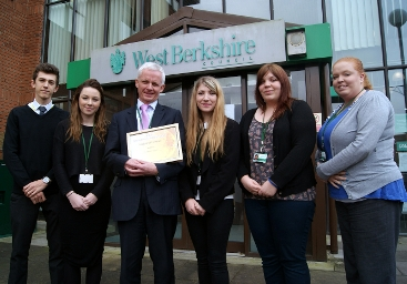 WBC Apprentices with Nick Carter receiving Excellence award