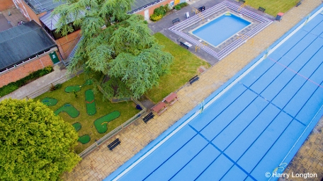 Aerial photo of the Lido at Northcroft Leisure Centre