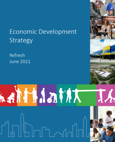 2021 Economic Development Strategy refresh strategy front page image