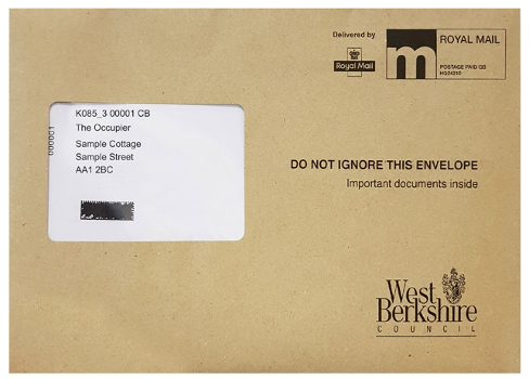 Annual Electoral Canvass brown envelope