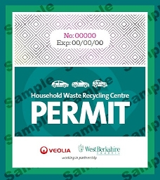 2016 - Household Waste Recycling Centres Permit with Sample Watermark