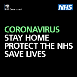 Coronavirus: stay home, protect the NHS, save lives graphic
