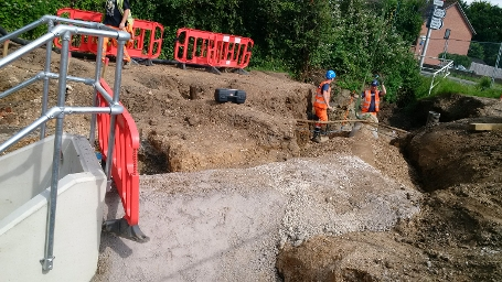 w14 Dunstan Green - Drainage pipes installation