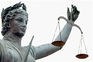 STOCK IMAGE: Scales of justice