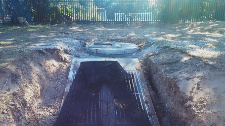 wk25 Kennet School - Installing drainage outflow system
