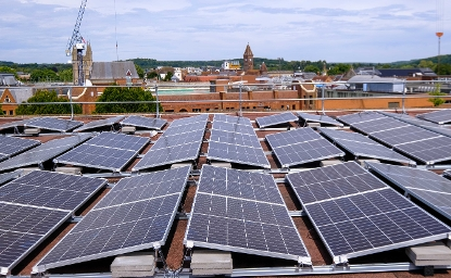2020 Solar Panels on roof of Market Street offices