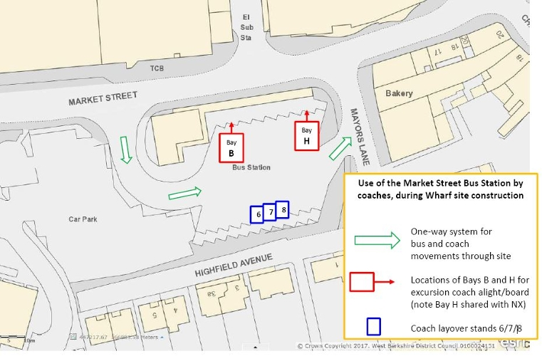 Market Street Development - Coach Parking Diagram 2 Displays a larger version of this image in a new browser window