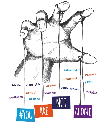 Domestic Abuse - you are not alone graphic