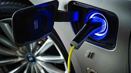 2020 Stock Shot Electric Car Charging Point