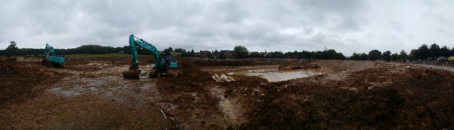 wk28 Floral Way - Current earthworks in progress
