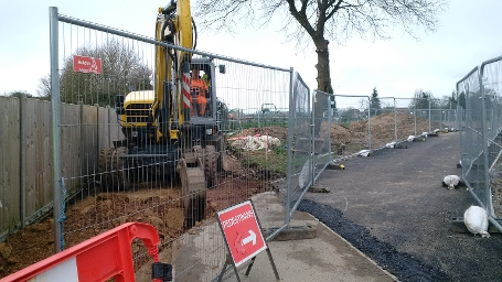 wk48-49 Siege Cross - Existing footway removed