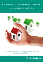 Front cover of the Housing Allocations Policy