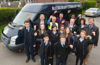 2018 Bucklebury Community Bus Launch Group pic
