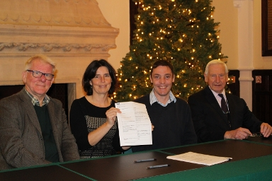 2018 Signing of lease for handover of Wash Common Library