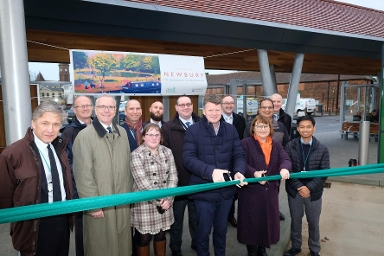 2018 Official opening of Newbury Bus Station