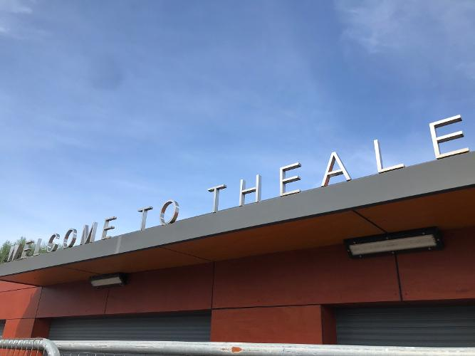 Theale Railway Station sign