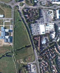 An aerial photograph of the area from the Pinchington Road roundabout to the household waste recycling centre