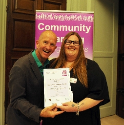 Most Committed Volunteer to Learning award: Charlie Taylor, Parenting Special Children