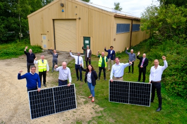 2020 Group pic of Community Municipal Investment launch at Greenham Common